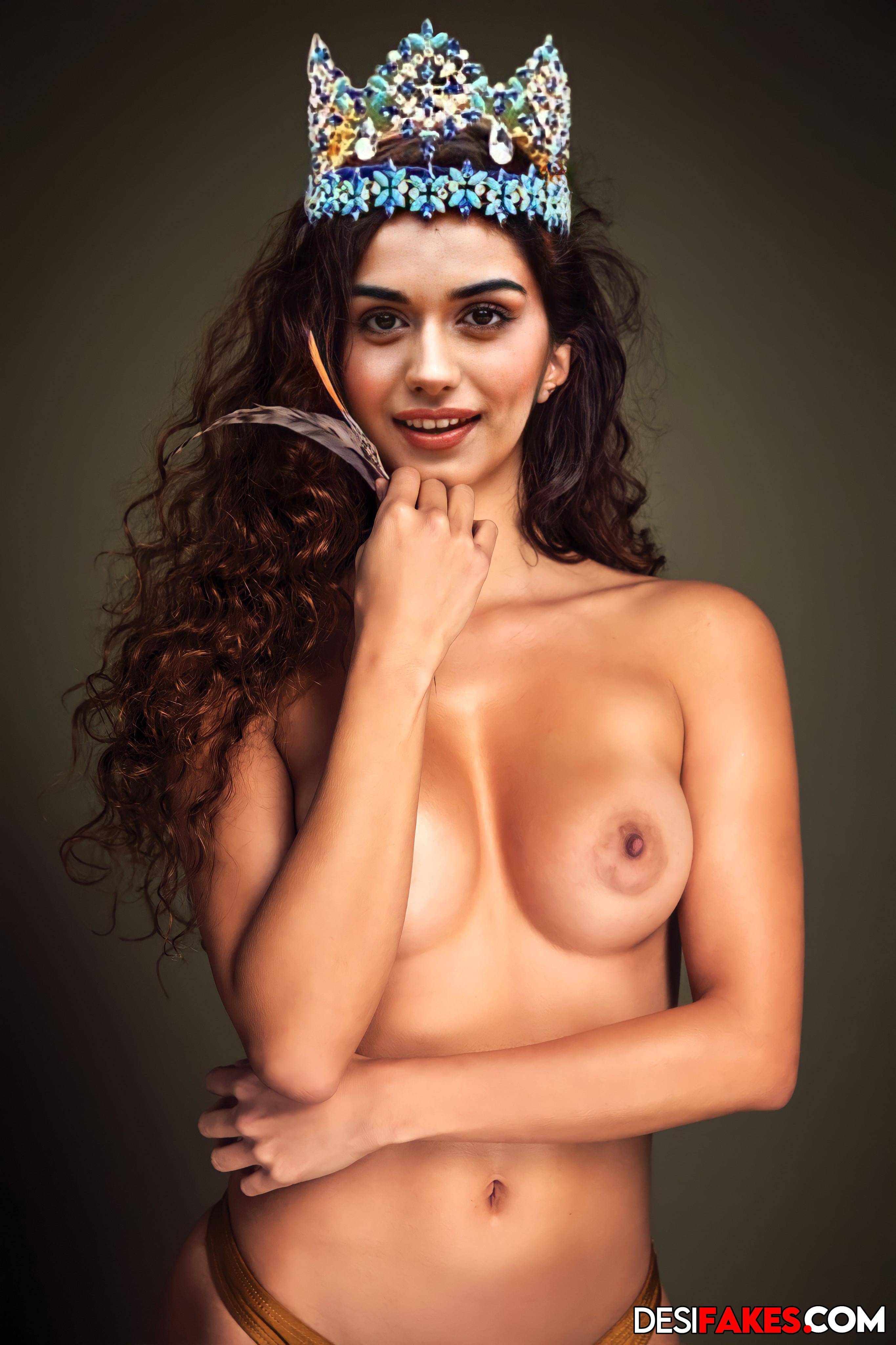 Manushi Chhillar nude